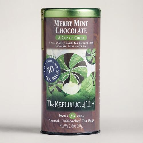 The Republic of Tea Chocolate Merry Mint, 50-Count