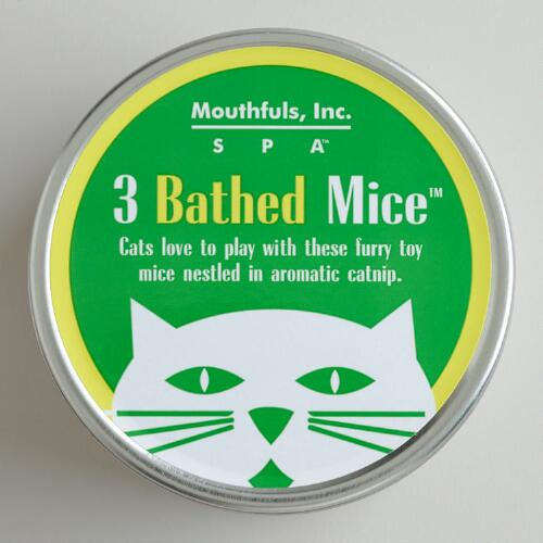 3 Bathed Mice Catnip Tin
