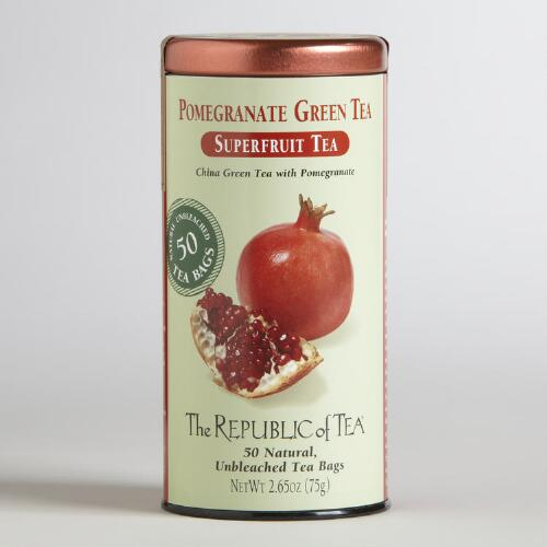 The Republic of Tea Pomegranate Green Tea, 50-Count