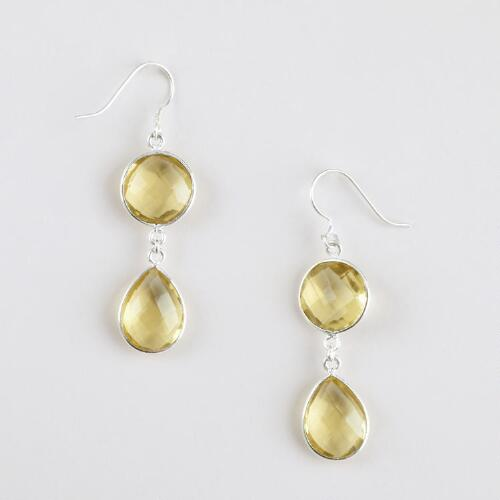 Citrine Double Drop Earrings
