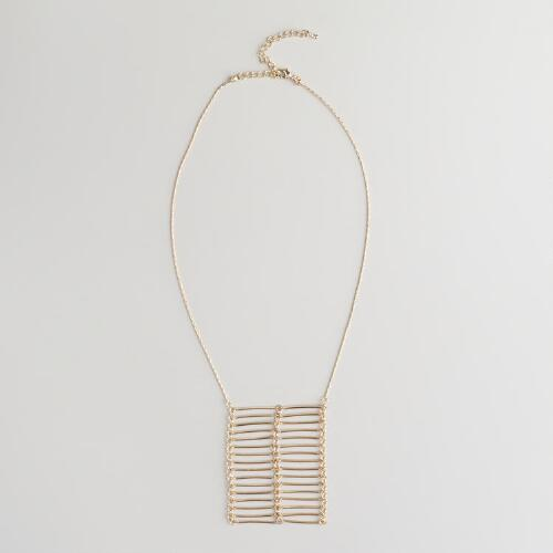 Gold Arrow Ladder Necklace