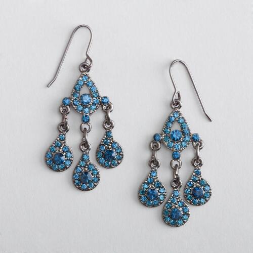 Blue Crystal Dangle Earring