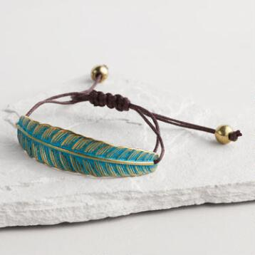 Green Leaf Friendship Bracelet