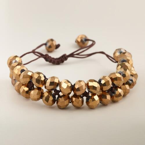 Bronze Sparkle Friendship Bracelet