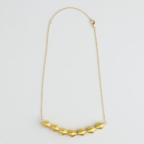 Gold Cone Necklace