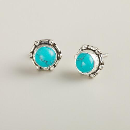 Small Turquoise Stud Earrings