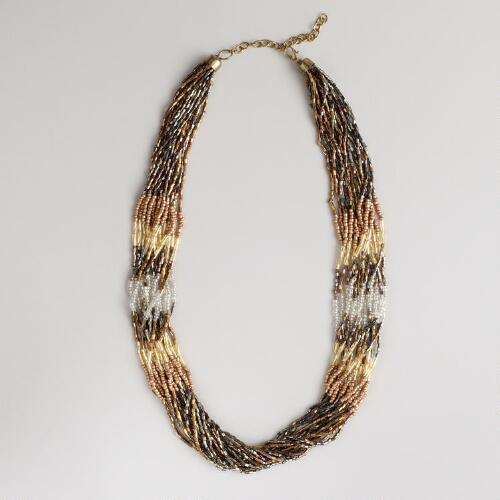 Metallic Multi-Strand Necklace
