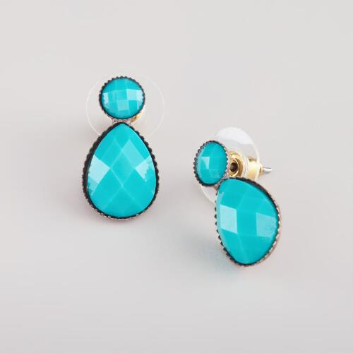 Small Turquoise Teardrop Earrings