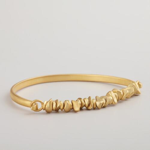 Gold Nugget Hook Bracelet
