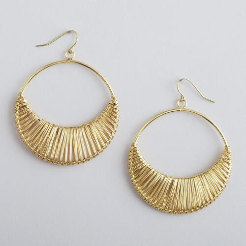 Gold Open Hoop Earrings