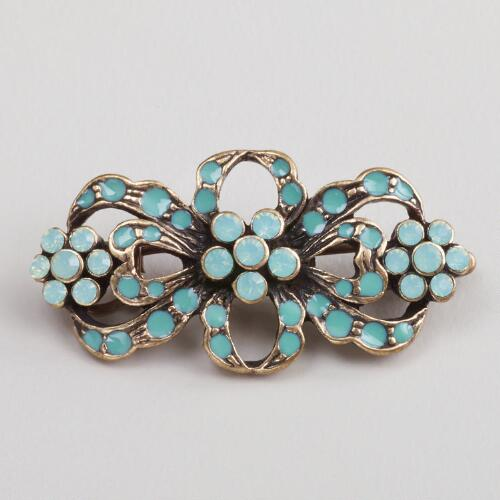 Aqua Stone Bow Hairpin