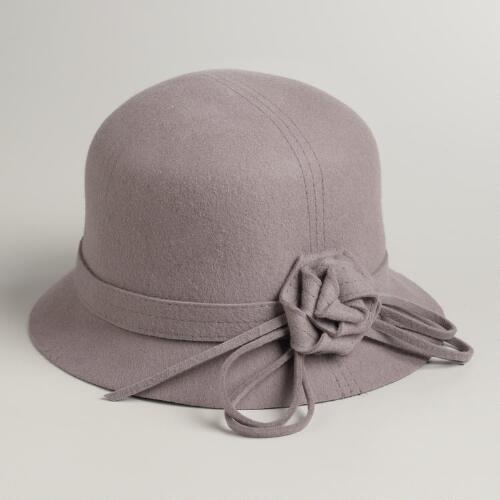 Gray Flower Cloche