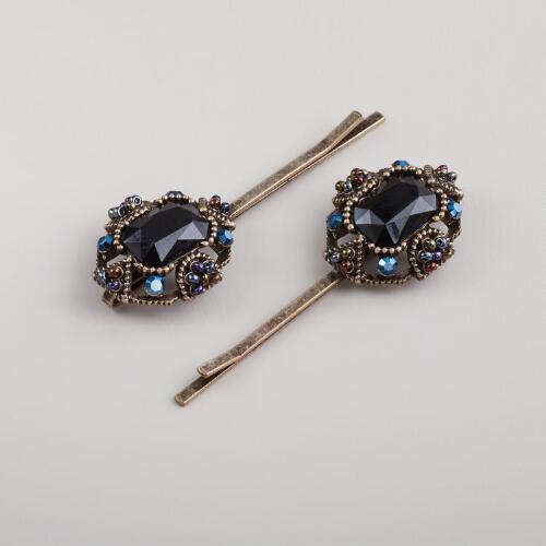 Stone and Bead Victorian Hairpin
