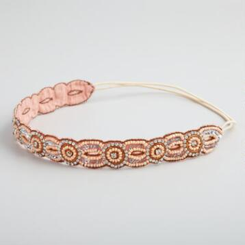 Blush Rhinestone Circles Headband
