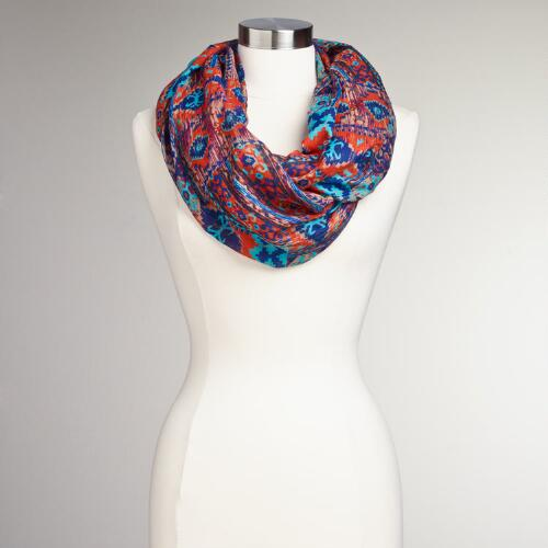 Orange and Turquoise Tribal Infinity Scarf