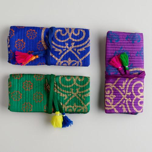 Indian Roll-Up Jewelry Bags