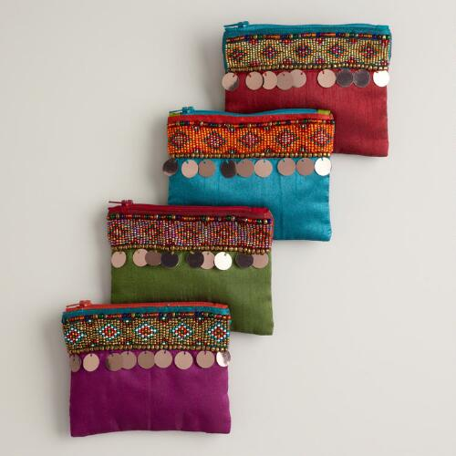 Beaded Coin Purses with Coins
