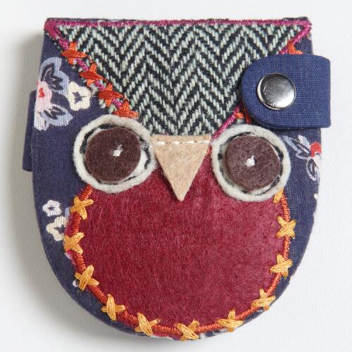 Patchwork Owl Mirror