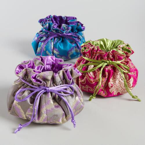Brocade Chinois Pouches