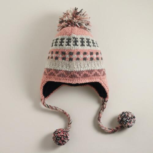 Blush Fairisle Wool Hat