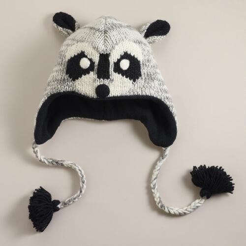 Wool Raccoon Hat