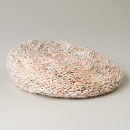 Blush Marbled Beret