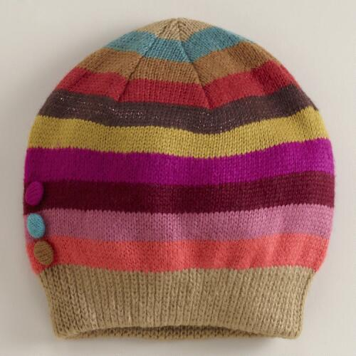 Multicolored Stripe Beanie