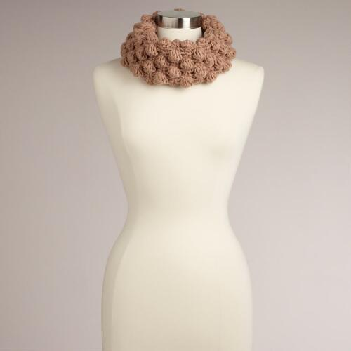 Blush Hand Crocheted Funnel Scarf