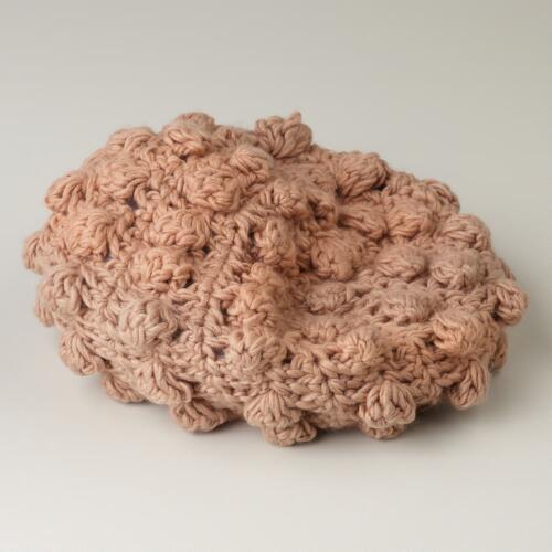 Blush Hand Crocheted Beret