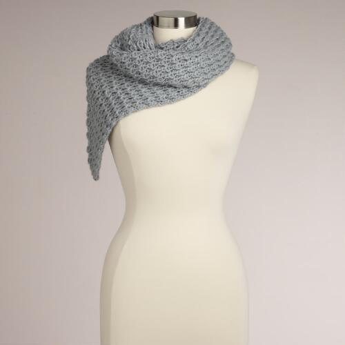 Mint Open Weave Triangle Infinity Scarf