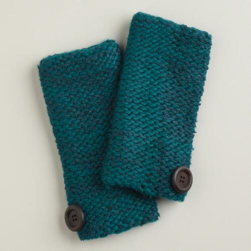 Teal Marbled Arm Warmers