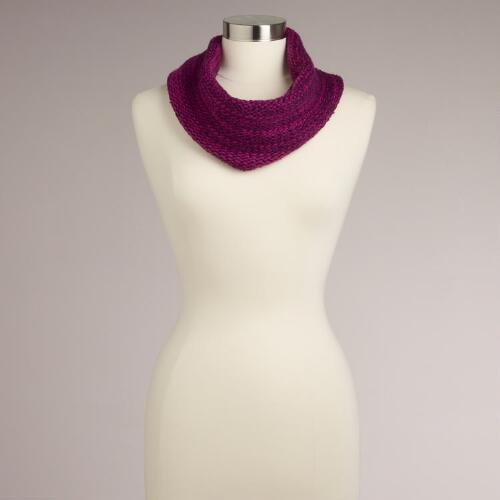 Purple Marbled Funnel Scarf