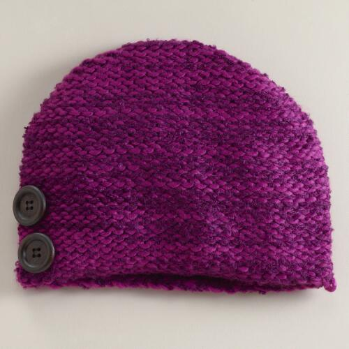 Purple Marbled Beanie