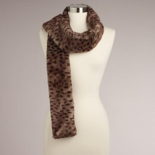 Faux Fur Long and Skinny Cheetah Scarf
