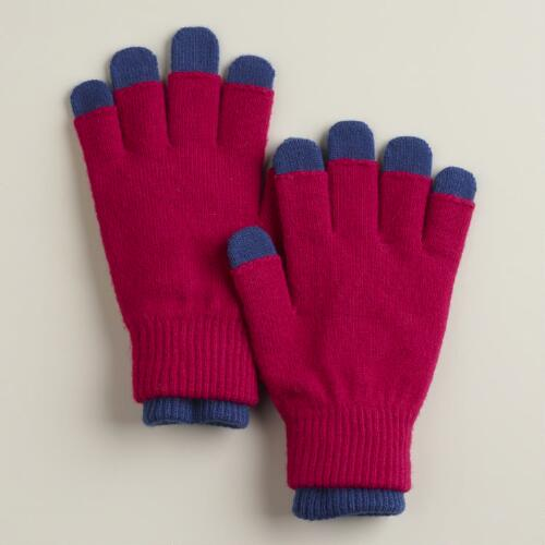 Pink and Blue Three-in-One Gloves