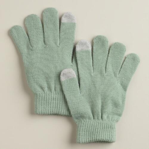 Slate Gray Touch Screen Gloves