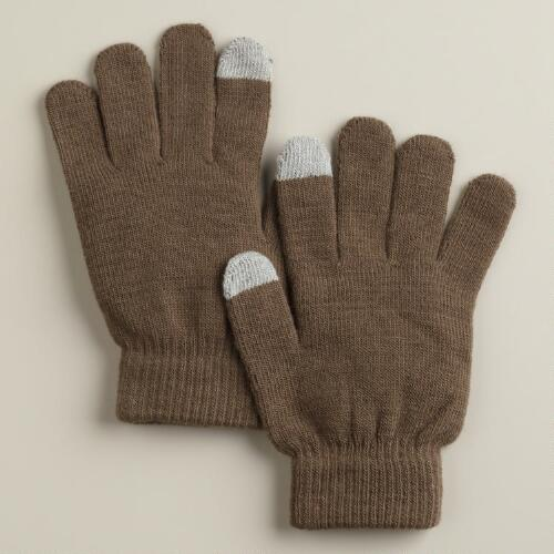 Taupe Touch Screen Gloves