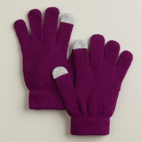Purple Touch-Screen Gloves