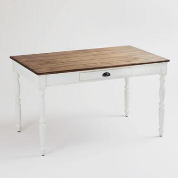 White Camille Dining Table