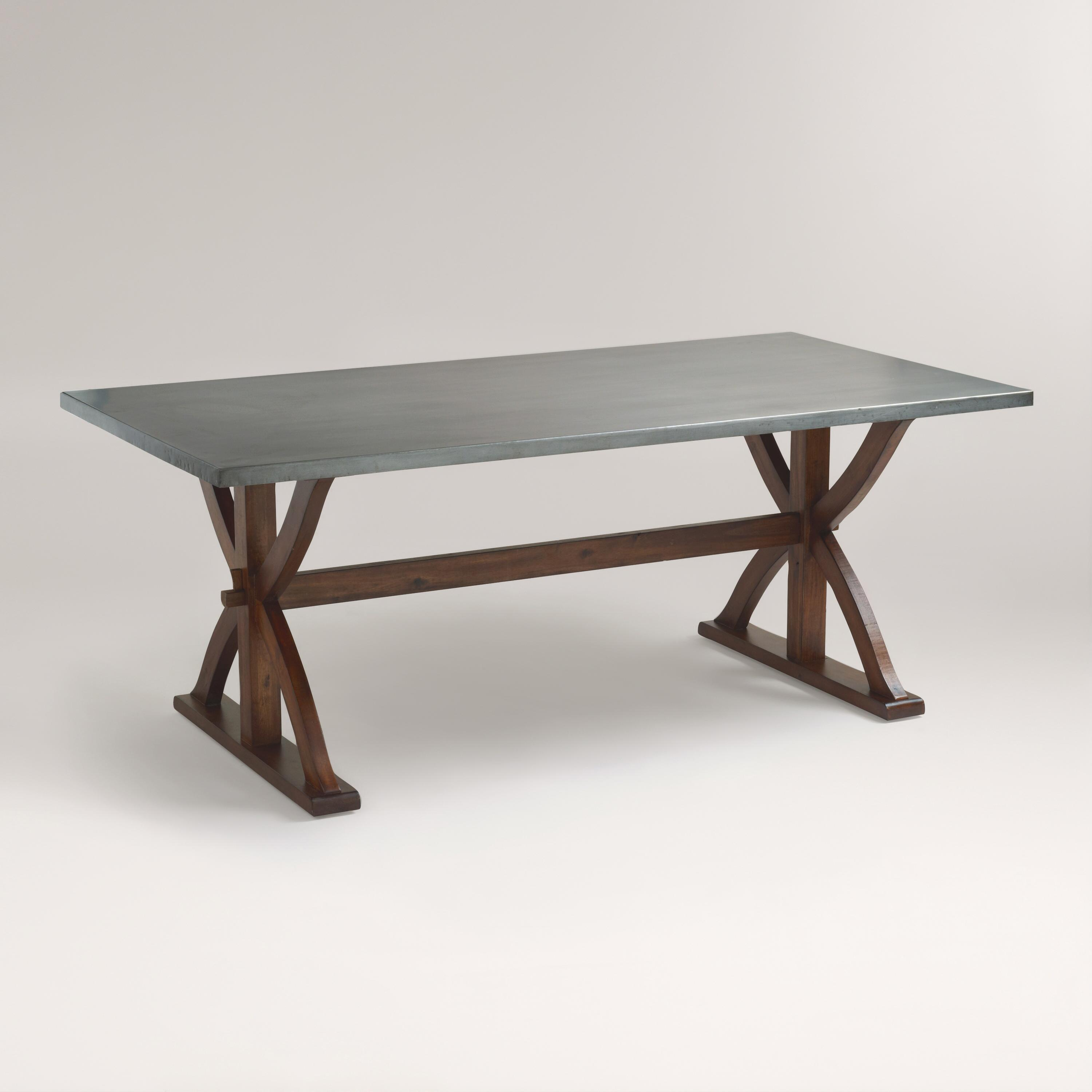 metal wrapped braxton dining table world market