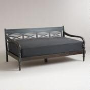 Charcoal Burlap Mattress Cover