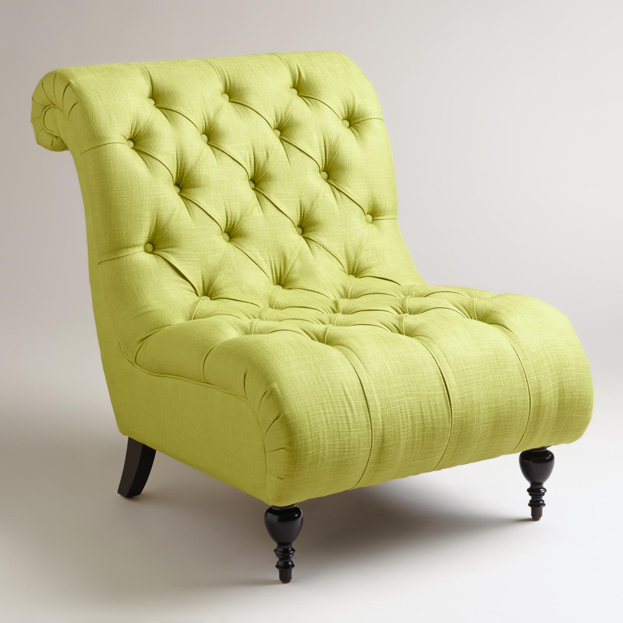 Green Tufted Devon Slipper Chair World Market