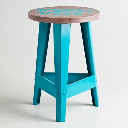 Turquoise Royalty Stool