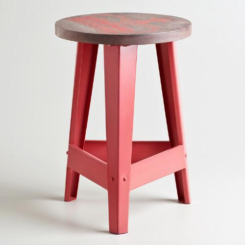 Coral Royalty Stool