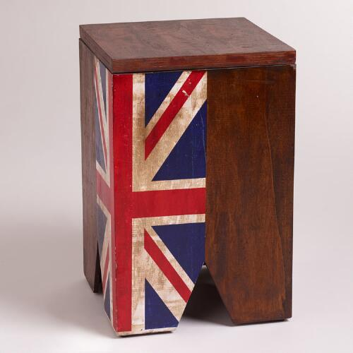 Union Jack Flag Stool