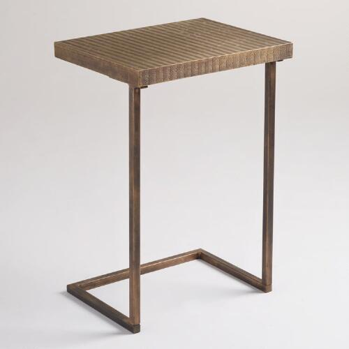 Metal Herringbone Laptop Table