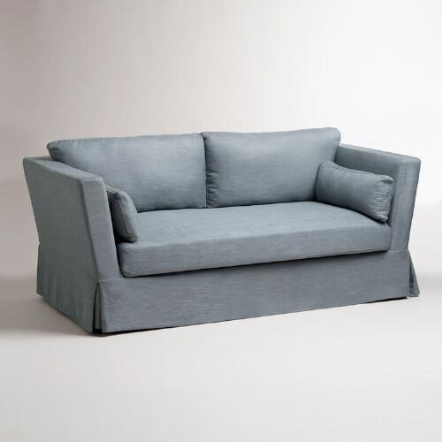 Slate Blue Crosby Sofa Slipcover
