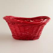 Red Willow Scooped Oval Baskets