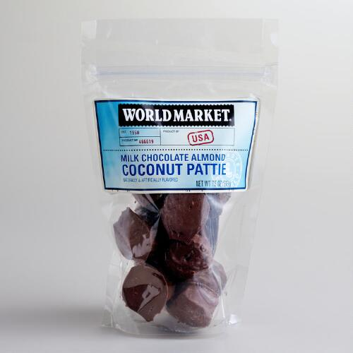 World Market® Milk Chocolate Coconut Almond Patties