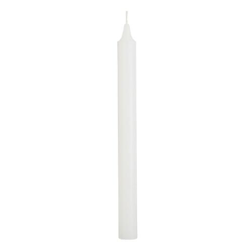 White Taper Candles, Set of 6